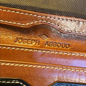 Joseph Abboud Cardholder brown and black leather